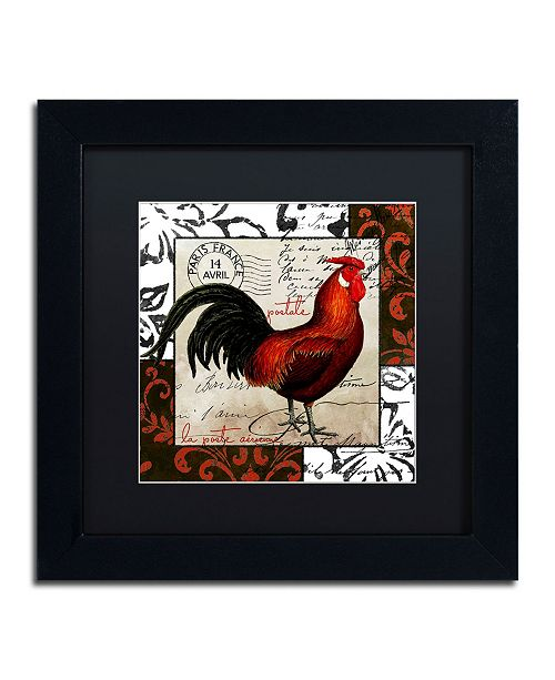 "Trademark Global Color Bakery 'Europa II' Matted Framed Art - 11"" x 11"" x 0.5"""