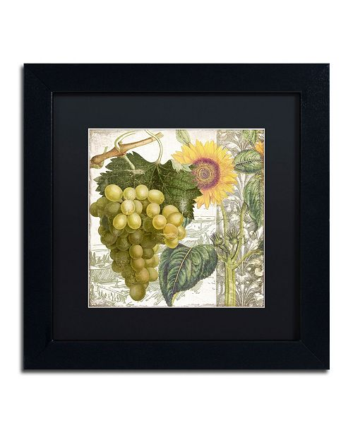 "Trademark Global Color Bakery 'Dolcetto III' Matted Framed Art - 11"" x 11"" x 0.5"""
