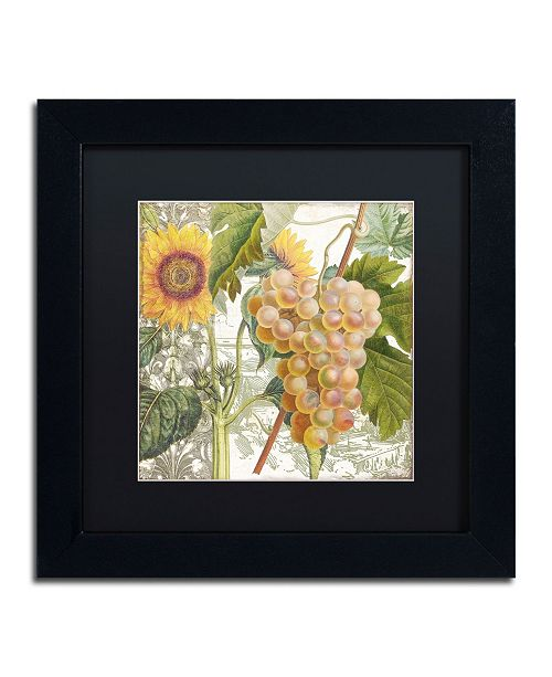 "Trademark Global Color Bakery 'Dolcetto IV' Matted Framed Art - 11"" x 11"" x 0.5"""