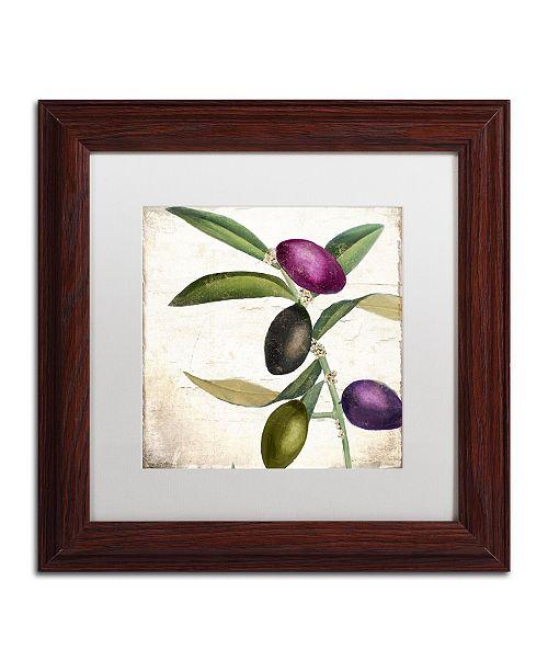 "Trademark Global Color Bakery 'Olive Branch II' Matted Framed Art - 11"" x 0.5"" x 11"""