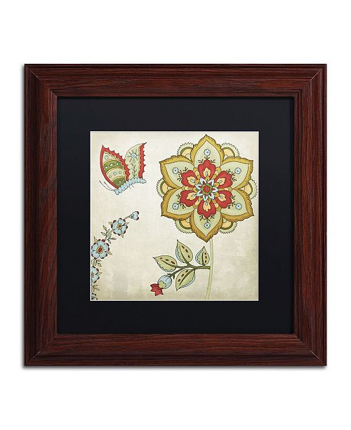 "Trademark Global Color Bakery 'Sasha I' Matted Framed Art - 11"" x 0.5"" x 11"""