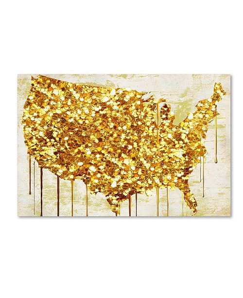 "Trademark Global Color Bakery 'American Dream IV' Canvas Art - 32"" x 2"" x 22"""