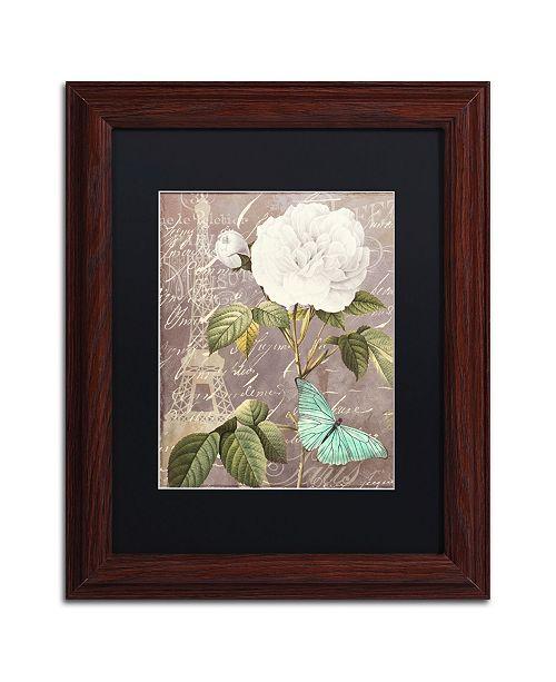 """Trademark Global Color Bakery 'White Rose' Matted Framed Art - 11"""" x 0.5"""" x 14"""""""