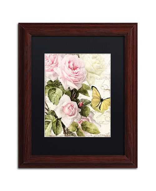 "Trademark Global Color Bakery 'Flora Bella' Matted Framed Art - 11"" x 0.5"" x 14"""