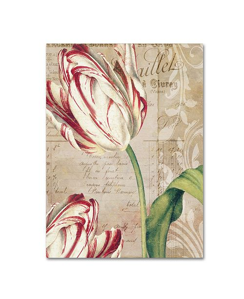 "Trademark Global Color Bakery 'Tulips' Canvas Art - 24"" x 2"" x 32"""