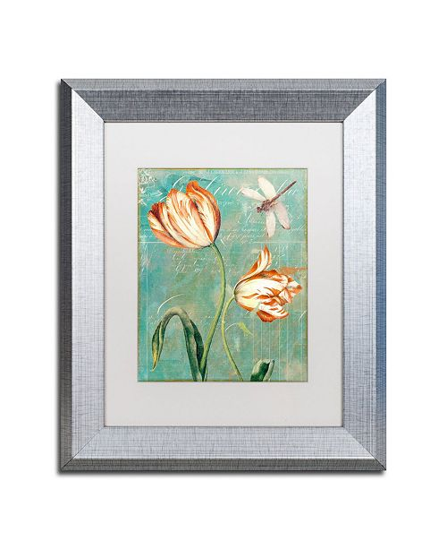 "Trademark Global Color Bakery 'Tulips Ablaze I' Matted Framed Art - 11"" x 0.5"" x 14"""