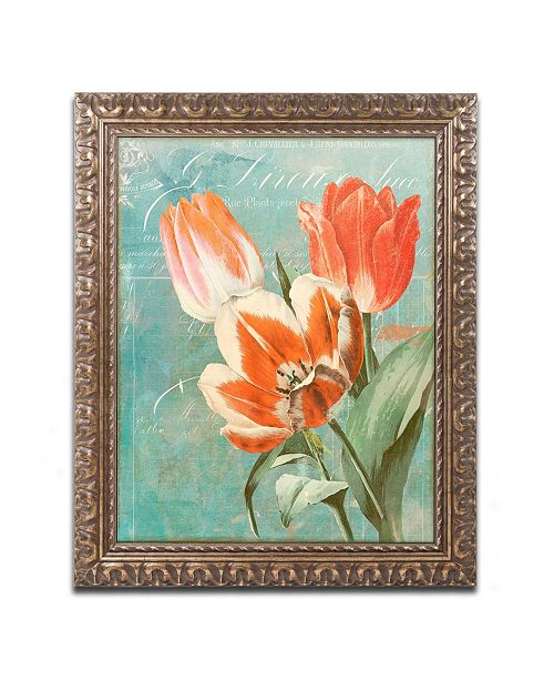 "Trademark Global Color Bakery 'Tulips Ablaze II' Ornate Framed Art - 16"" x 0.5"" x 20"""