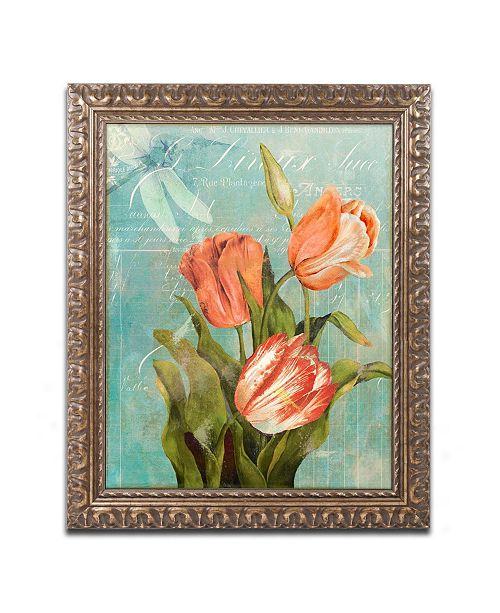 "Trademark Global Color Bakery 'Tulips Ablaze III' Ornate Framed Art - 16"" x 0.5"" x 20"""