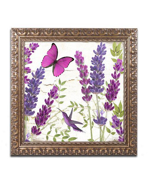 "Trademark Global Color Bakery 'Lavender II' Ornate Framed Art - 11"" x 0.5"" x 11"""