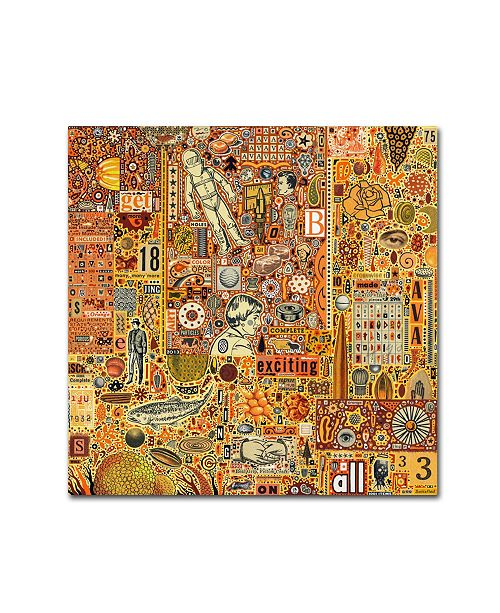 """Trademark Global Colin Johnson 'The Golding Time' Canvas Art - 35"""" x 35"""" x 2"""""""