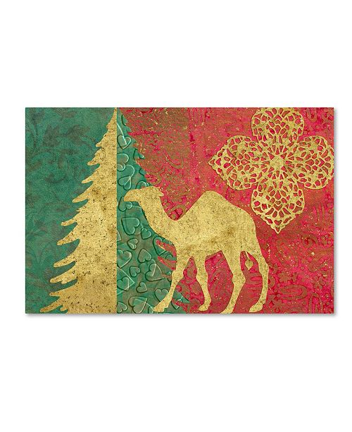 "Trademark Global Cora Niele 'Xmas Tree and Camel' Canvas Art - 47"" x 30"" x 2"""