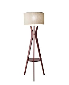 Adesso Bedford Shelf Floor Lamp