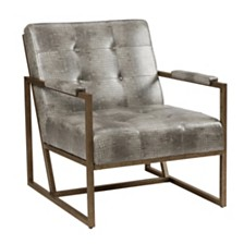 York Tufted Lounge Armchair, Quick Ship