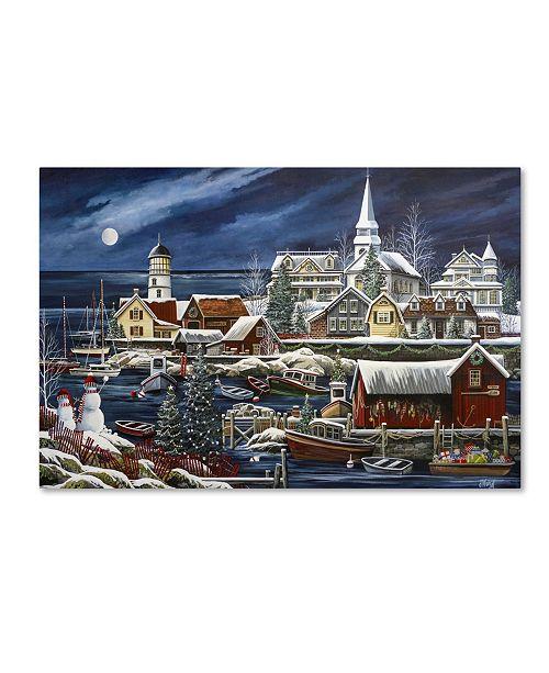 "Trademark Global Debbi Wetzel 'Harbor Sharper' Canvas Art - 24"" x 16"" x 2"""