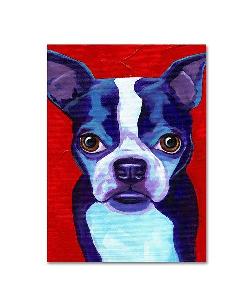 "Trademark Global Corina St. Martin 'Boston Terrier' Canvas Art - 47"" x 35"" x 2"""
