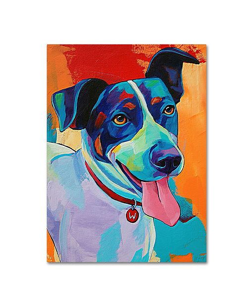 "Trademark Global Corina St. Martin 'Willie Terrier Dog' Canvas Art - 32"" x 24"" x 2"""