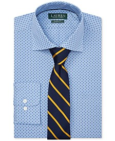 Lauren Ralph Lauren Men's Classic-Fit No-Iron Print Dress Shirt