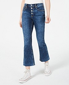 Juniors' Cropped Button-Fly Kick-Flare Jeans, Created for Macy's