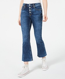 American Rag Juniors' Cropped Button-Fly Kick-Flare Jeans, Created for Macy's