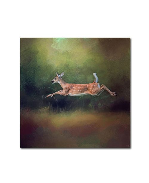 "Trademark Global Jai Johnson 'I Can Fly White Tailed Fawn' Canvas Art - 35"" x 35"" x 2"""
