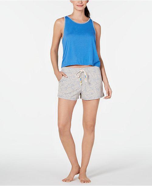 Jenni Tank Top & Pajama Shorts Knit Sleep Separates, Created for Macy;s