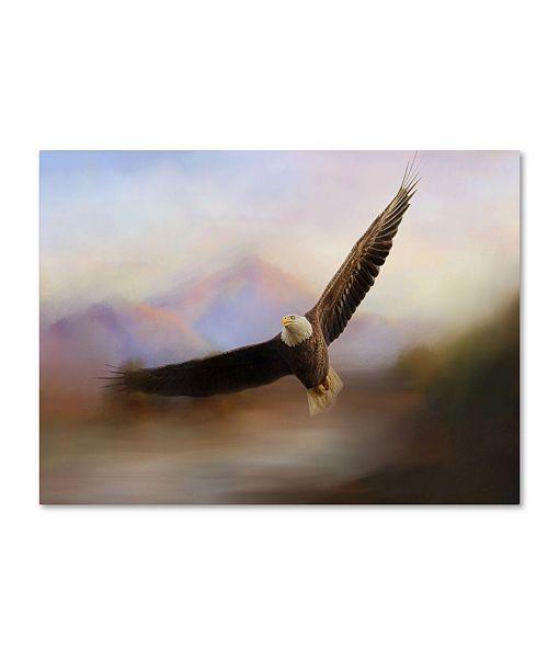 "Trademark Global Jai Johnson 'Eagle At The Mountain' Canvas Art - 47"" x 35"" x 2"""