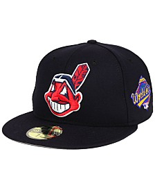 New Era Cleveland Indians Retro World Series Patch 59FIFTY Fitted Cap