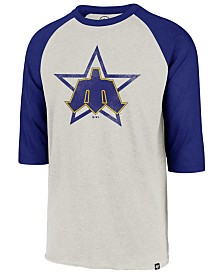 '47 Brand Men's Seattle Mariners Coop Throwback Club Raglan T-Shirt