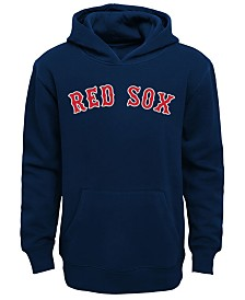 Outerstuff Little Boys Boston Red Sox Wordmark Pullover Fleece Hoodie