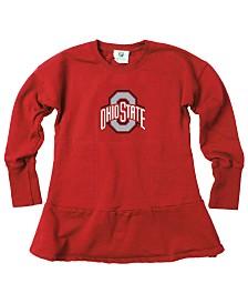 Wes & Willy Little Girls Ohio State Buckeyes Fleece Dress