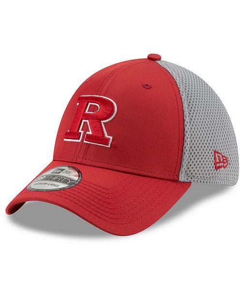 New Era Rutgers Scarlet Knights TC Gray Neo 39THIRTY Cap
