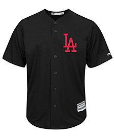 Majestic Men's Los Angeles Dodgers Black Tux Replica Cool Base Jersey