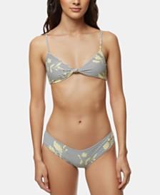 O'Neill Juniors' Knot-Front Bikini Top & Bottoms