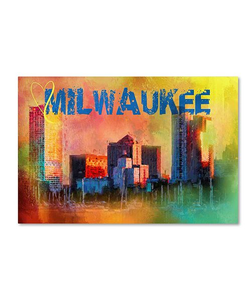 "Trademark Global Jai Johnson 'Sending Love To Milwaukee' Canvas Art - 32"" x 22"" x 2"""