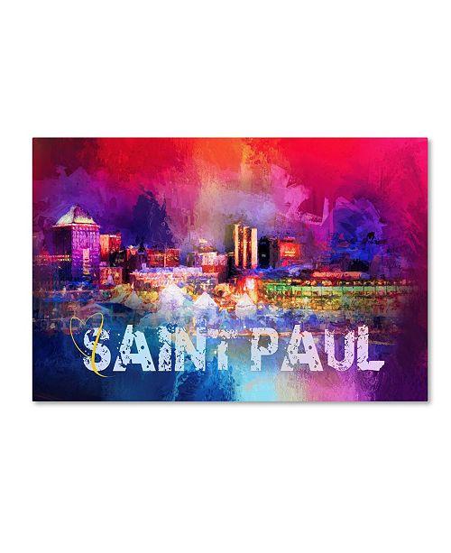 "Trademark Global Jai Johnson 'Sending Love To Saint Paul' Canvas Art - 19"" x 12"" x 2"""
