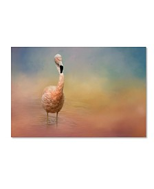 "Jai Johnson 'Flamingo Friday' Canvas Art - 47"" x 30"" x 2"""