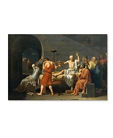 """David 'The Death Of Socrates' Canvas Art - 19"""" x 12"""" x 2"""""""