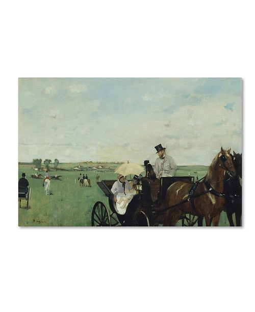 "Trademark Global Degas 'At The Races In The Countryside' Canvas Art - 19"" x 12"" x 2"""