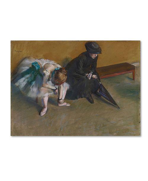 "Trademark Global Degas 'Waiting' Canvas Art - 24"" x 18"" x 2"""