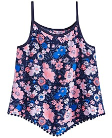 Epic Threads Big Girls Floral-Print Diamond Challis Tank Top, Created for Macy's