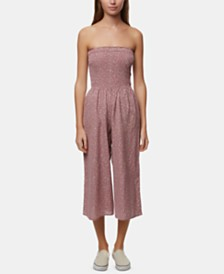 O'Neill Juniors' Strapless Cropped Jumpsuit