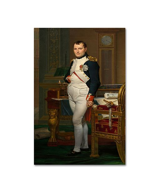 "Trademark Global David 'The Emperor Napoleon In His Study At The Tuileries' Canvas Art - 19"" x 12"" x 2"""