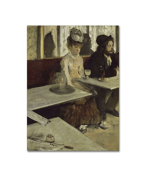 """Trademark Global Degas 'In A Cafe' Canvas Art - 47"""" x 35"""" x 2"""""""