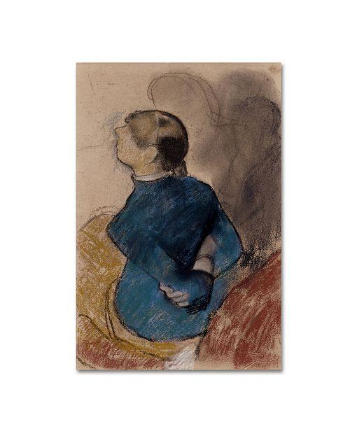 "Trademark Global Degas 'Woman In Blue' Canvas Art - 47"" x 30"" x 2"""