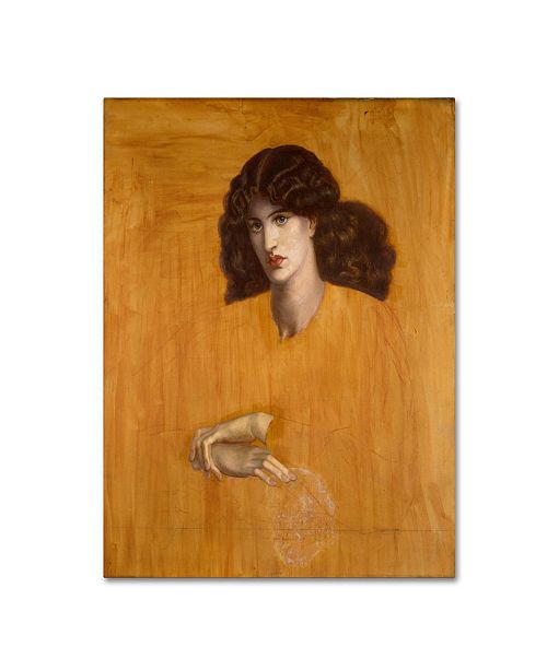 """Trademark Global Dante Rossetti 'The Lady Of Pity' Canvas Art - 19"""" x 14"""" x 2"""""""