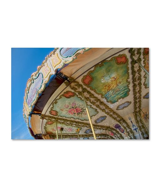 "Trademark Global Cora Niele 'Nautical Carousel Of Saintmalo' Canvas Art - 47"" x 30"" x 2"""