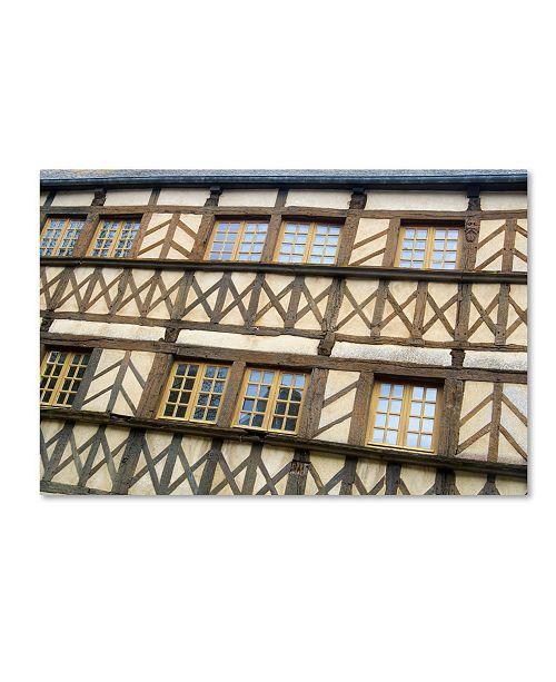 "Trademark Global Cora Niele 'Timber Framed Building Moncontour' Canvas Art - 24"" x 16"" x 2"""