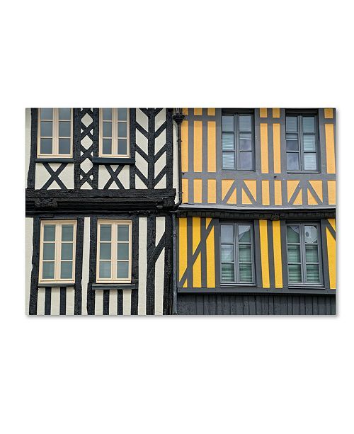 "Trademark Global Cora Niele 'Timber Framed Houses' Canvas Art - 32"" x 22"" x 2"""