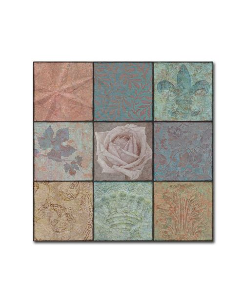 "Trademark Global Cora Niele 'Classic Ornaments Ninesquare' Canvas Art - 14"" x 14"" x 2"""