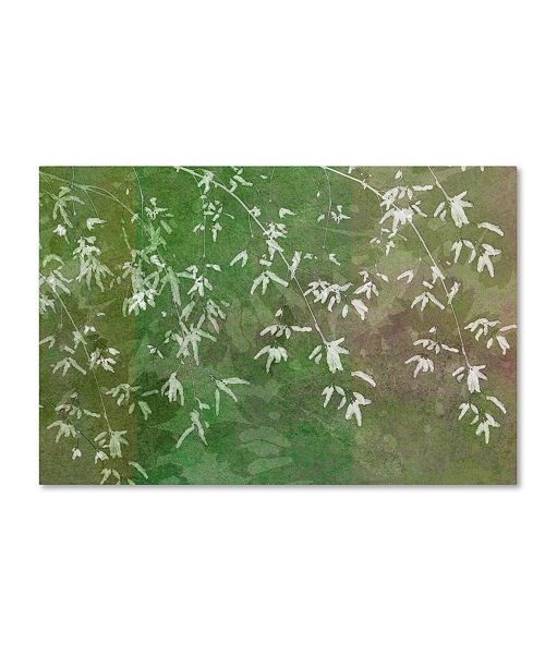 "Trademark Global Cora Niele 'Floral Flurry Green' Canvas Art - 24"" x 16"" x 2"""